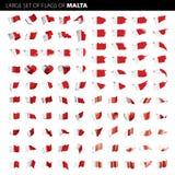 Malta-Flagge, Vektorillustration Stockfotografie