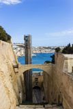 Malta Fort St. Angelo. One of the most beautiful parks in Valletta, with a panoramic view from the bastion of St. Peter and Paul Royalty Free Stock Images