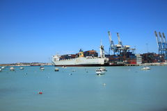 Malta Freeport. An international port on the island of Malta in the city Birzebbuga Royalty Free Stock Photography
