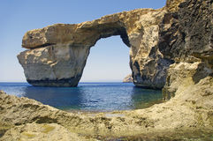 Malta.Gozo. Azure window. In the day Royalty Free Stock Photos
