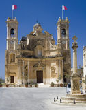 Malta - Gozo - Church in Gharb. Main square and church in the village of Gharb on the island of Gozo - Malta. Gharb is said to be the most picturesque village on Stock Images