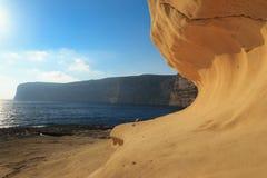 Malta. Gozo. De baai van Xlendi Royalty-vrije Stock Afbeeldingen