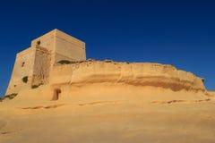 Malta. Gozo. De baai van Xlendi Stock Afbeeldingen