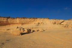 Malta. Gozo. Figuras de Sandy Imágenes de archivo libres de regalías