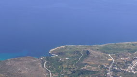 Malta Gozo island aerial view stock video footage