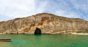 Malta, Gozo Island, Dwejra internal lagoon. Malta, Gozo Island, view of Dwejra internal lagoon Stock Photography