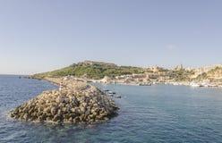 Malta -Gozo Island port. Gozo Island view on a sunny day Royalty Free Stock Photos