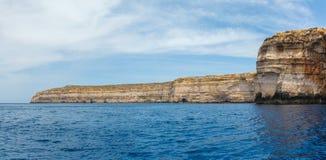 Malta,  Gozo Island, view of the rocky coastline. Malta, Gozo Island, view of the rocky coastline of the island at Dwejra Stock Photography