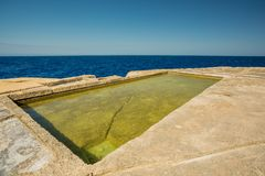 Malta, Gozo salt pans. Gozo salt pans in Malta royalty free stock photography