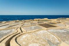Malta, Gozo salt pans. Malta, Gozo island salt pans stock photos