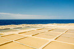 Malta, Gozo salt pans. Squares Royalty Free Stock Photos