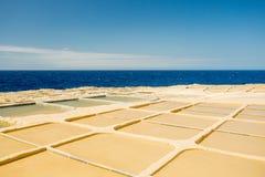 Malta, Gozo salt pans Royalty Free Stock Photos