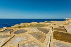 Malta, Gozo salt pans Stock Images