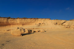 Malta. Gozo. Sandy figures. Against the sky Royalty Free Stock Images