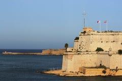 Malta Grand Harbor. Fort St. Angelo in the Malta Grand Harbor Stock Images