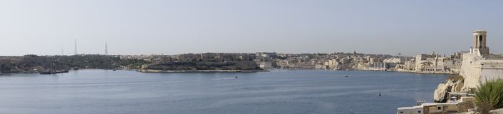 Malta Grand Harbour Panorama Royalty Free Stock Images