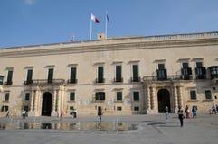 Malta, the great master palace of Valetta. Republic of Malta, the presidential palace of Valetta Stock Photos