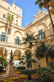 Malta, the great master palace of Valetta. Republic of Malta, the presidential palace of Valetta Stock Photography