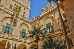 Malta, the great master palace of Valetta. Republic of Malta, the presidential palace of Valetta Stock Images