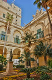 Malta, the great master palace of Valetta. Republic of Malta, the presidential palace of Valetta Stock Photos