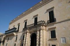 Malta, the great master palace of Valetta. Republic of Malta, the presidential palace of Valetta Royalty Free Stock Photo