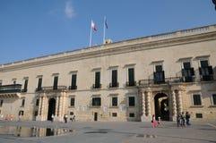 Malta, the great master palace of Valetta. Republic of Malta, the presidential palace of Valetta Stock Photo
