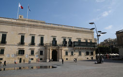 Malta, the great master palace of Valetta. Republic of Malta, the presidential palace of Valetta Stock Image