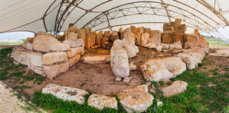 Malta, Hagar Quim Temple. This Hagar Quim temple on Malta is even older that Stonehenge and the Pyramids Royalty Free Stock Photography