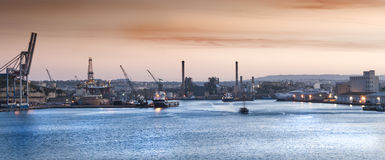 Malta harbor royalty free stock image