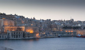 Malta from the harbor. Late afternoon scene of malta from the big harbor Stock Image