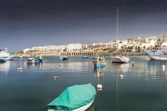 Malta harbor. Old harbor in malta late afternoon Royalty Free Stock Photos