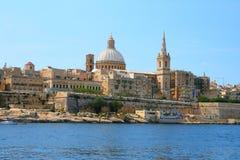 Malta Harbor Valetta. Amazing view from the sea on the harbor of Valetta, Malta Stock Images
