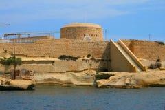 Malta Harbor Valetta. Amazing view from the sea on the harbor of Valetta, Malta Stock Photography