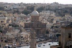 Malta harbour. The architecture of the old city of la valletta on malta island Royalty Free Stock Photo