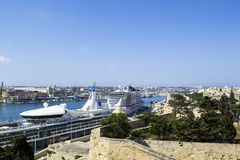 Malta harbour cityscape Royalty Free Stock Photo
