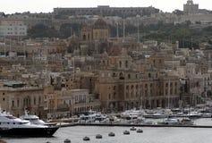 Malta harbour. Historic buildings around the port of la valletta on malta island Stock Image