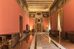 Reception room St Paul`s Cathedral museum Mdina Malta royalty free stock photo