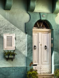 Malta House of Character. Typical features on a facade of a house in Malta Royalty Free Stock Photos
