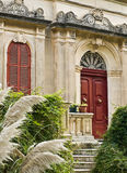 Malta House of Character. Facade of an old villa in Malta in the Med Stock Photos