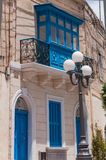 Malta house. Typical house with dormer-window in island Malta Stock Image