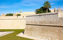 Malta island, history and nature. Malta, Mdina, the fortified medieval walls of the town Stock Photos