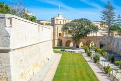Malta island, history and nature. Malta, Mdina, the fortified medieval walls of the town Stock Photography