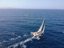 Free Malta Island Mediterranean Sea Sailing Yacht Drone Royalty Free Stock Images - 166085809