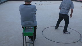 Malta island,seniors play boule stock video footage