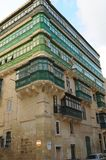 Malta Island: Typical balconies on historic buildings. Typical balconies of Maltas architecture in the historic period Royalty Free Stock Photo
