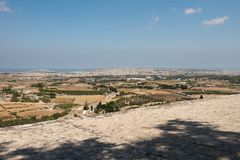 Malta island from Mdina fortress. Malta island. View from Mdina fortification Stock Photography