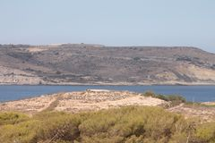 Malta islands. Strip of sea between the 2 main islands of the maltese isles Stock Images
