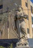 Malta - Jesus och jungfrulig Mary härlig staty arkivfoto