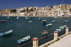 Malta - Kalkara inlet in Valletta Harbour. The Kalkara inlet in Valletta Harbour on the island of Malta Royalty Free Stock Image