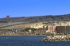 Malta kustlinjesikt Arkivfoton
